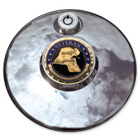 Motordog69 Desert Storm Veteran Fuel Door Coin and Mount