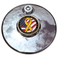 Motordog69 Support The Troops Veteran Fuel Door Coin and Mount