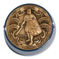 Motordog69 Universal Coin Mount with Armor of God Brass Coin