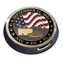 Motordog69 Universal Coin Mount with September 11th Coin