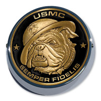 Motordog69 Universal Coin Mount with Marine Bulldog Coin