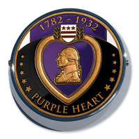 Motordog69 Universal Coin Mount with Purple Heart Coin