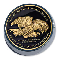 MotorDog69 Universal Set Screw Coin Mount with Thank You Troops Coin