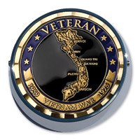 MotorDog69 Universal Set Screw Coin Mount with Vietnam Veteran Country Coin