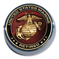 Motordog69 Universal Coin Mount with Retired Marine Coin