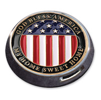 Motordog69 Universal Coin Mount with God Bless America Coin