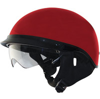 Zox Alto DDV Wine Red Half Helmet with Drop Down Visor