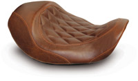 Mustang Brown Wide Tripper Forward Solo Seat with Diamond Stitching