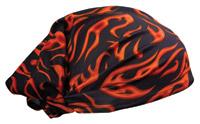 Schampa Red Mini Flames Dooz's Headwrap