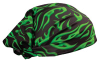 Schampa Green Mini Flames Dooz's Headwrap