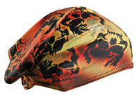 Schampa Flaming Skull Dooz's Headwrap