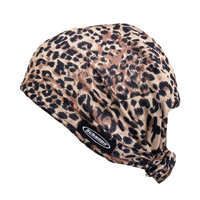 Schampa Brown Leopard Dooz's Headwrap