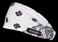 Schampa White and Black Paisley Mini Dooz′s Headband