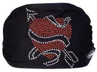 Schampa Heart with Arrow Jeweled Mini Dooz′s Headband