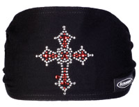 Schampa Cross Jeweled Mini Dooz′s Headband