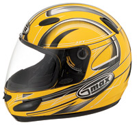 GMAX GM39Y Yellow & Black Youth Full Face  Helmet