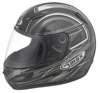 GMAX GM39Y Black & White Youth Full Face Helmet