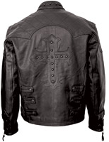 Milwaukee Motorcycle Clothing Co. Men's Cross Studded Leather Jacket