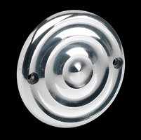 Biltwell Inc. Ripple 2-Hole Polished Ignition Cover