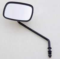 J&P Cycles® One-Piece Black Left Side Mirror with 7″ Stem