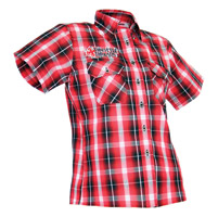 ThrottleThreads Men's Red Kilted Shop Shirt