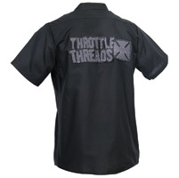 ThrottleThreads Men's Magnum II Black Shop Shirt