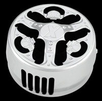 Xtreme Machine Skullz Chrome Horn Cover