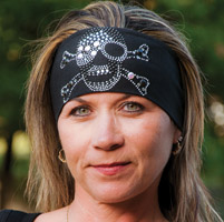 DesignWraps Brands Inc Stretch Sunspark Skull and Crossbones Headband