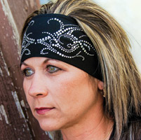 DesignWraps Brands Inc Stretch Rhinestone Tribal Headband