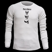 ThrottleThreads Spinning Skull Men's Thermal Shirt