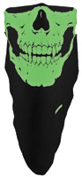 Schampa Glow in the Dark Traditional Skull Stretch Facemask