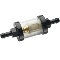 J&P Cycles® Mini Custom Black In-Line Fuel Filters