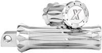 Xtreme Machine V-Cut Chrome Footpegs