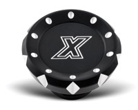 Xtreme Machine V-Cut Black Cut Gas Cap