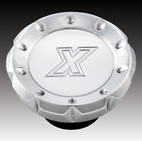 Xtreme Machine V-Cut Chrome Dummy Gas Cap