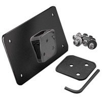 Black Laydown License Plate Mount