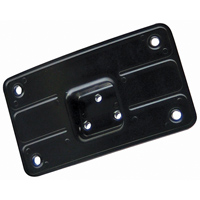 J&P Cycles® Black Curved Laydown License Plate Bracket