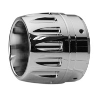 Custom Chrome Bullet Exhaust End Caps for 3-1/2″ Rinehart Mufflers