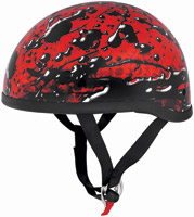 Skid Lid Oil Spill Red Half Helmet