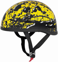 Skid Lid Oil Spill Yellow Half Helmet