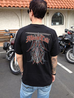 MotorCult Men's Layin' Lines Black T-shirt