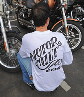 MotorCult Men's Black Ink White Long-Sleeve Shirt