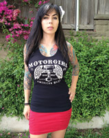 MotorCult Women's Loud and Fast Black Tank Top