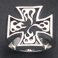 Wildthings Flame Maltese Cross Ring