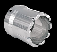 Xtreme Machine Dominate Chrome Exhaust Tip for 4