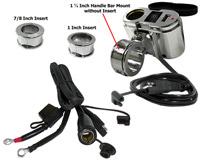 Eklipes Chrome Cobra USB and 12 Volt Socket Charging System