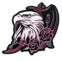 Hot Leathers Glitter Eagle Head Patch