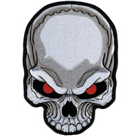 Hot Leathers Skull Red Eyes Patch