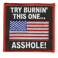 Hot Leathers Try Burn This One Patch