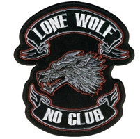 Hot Leathers Lone Wolf Patch